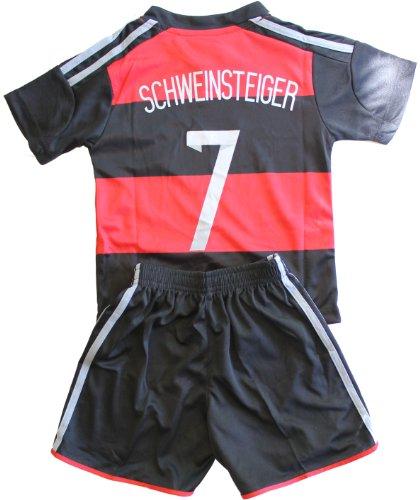 FWC 2014 Schweinsteiger 7 Germany Away Futbol Football Soccer Jersey & Short
