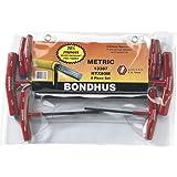 Bondhus 13387 Set of 8 Hex T-handles, sizes 2-10mm