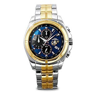 """""""For My Marine"""" Men's Chronograph Watch by The Bradford Exchange"""