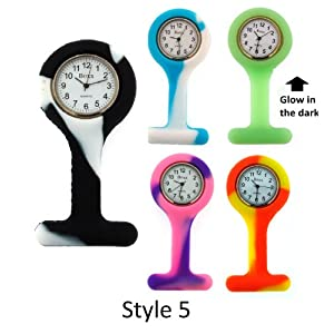 Boxx Glow In The Dark White Dial Unisex Nurses Fob Watch