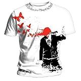 Bravado  29 Seconds To Mars - Butterfly Headshot - Mens T-shirt Whiteby Bravado