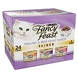 Fancy Cat Food Gourmet Sliced 3-Flavor Variety Pack 72OZ (Pack of 6)