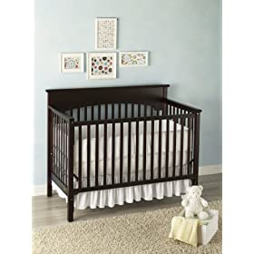 Graco Lauren Dropside Convertible Crib - Espresso