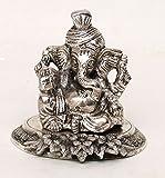 Home Sparkle Aluminium Ganesha Statue (Silver)