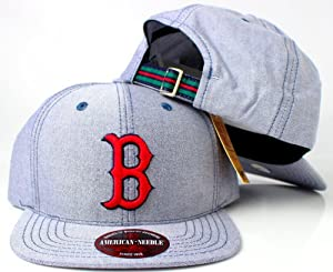 Boston Red Sox MLB American Needle The Sound Cotton Oxford Adjustable Grossgrain Cap... by American Needle