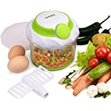 Trueware Compact Quick Pull Manual Hand Held Food Chopper / Mincer / Mixer / Blender 1 Ltr. Capacity Cap Cover...