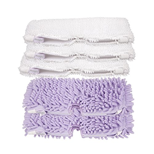 Hongfa Microfiber Pad and Purple Coral Duster Pad Replacement for Euro Pro Shark Pocket Steam Mop S3550 S3901 S3601 S3501 (35013 36012) (Shark Steam Mop 3601 Pads compare prices)