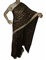 Beautiful RUDA Designer Phulkari Embroidered Saree-JS1094