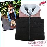 (マイ スウィーティー)MY SWEETY ファー付きベスト [Bi color Vest] ピンク×ブラウン [キッズ] トップス VEST FARR CHECK チェック ZIP UP ジップアップベビー服・子供服(並行輸入品)