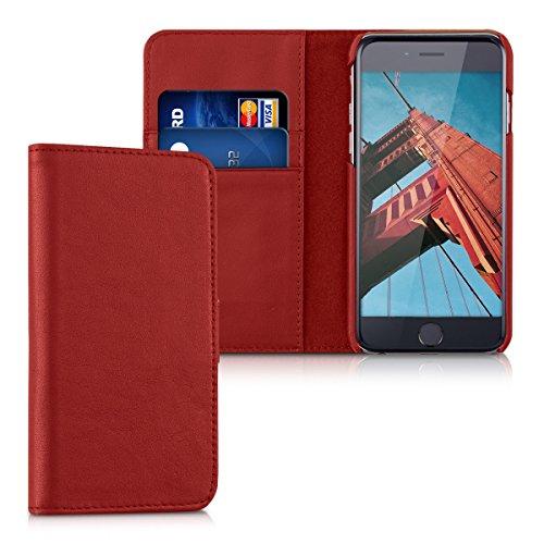 kalibri-Leder-Hlle-James-fr-Apple-iPhone-6-6S-Echtleder-Schutzhlle-Wallet-Case-Style-mit-Karten-Fchern-in-Rot