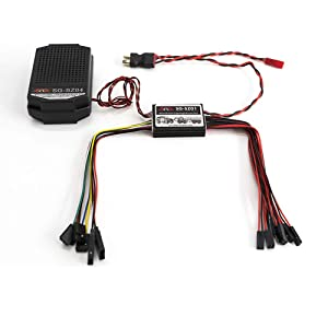 Part & Accessories RC Car 3 in 1 Engine Simulator System Emulational Lighting Smoke Sound Set for TRX4 XB HB Racing D418