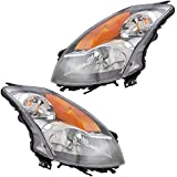 Driver and Passenger Halogen Headlights Headlamps Replacement for Nissan 26060-JA00B 26010-JA00B