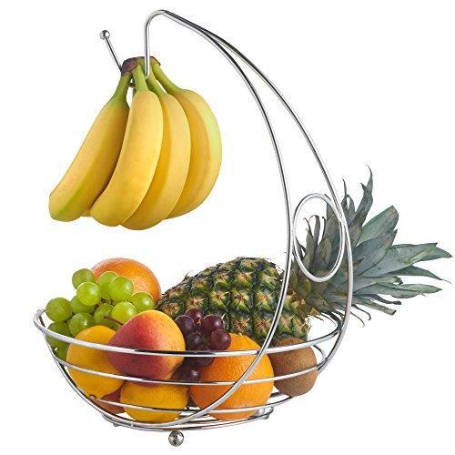 VonShef Corbeille à fruits chromé