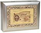 Cottage Garden Inspirational Music Box - 50Th Anniversary Plays Amazing Grace With Ornate Champaign Silver Finish