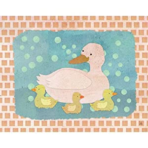 Duck and Baby Ducks Canvas Art