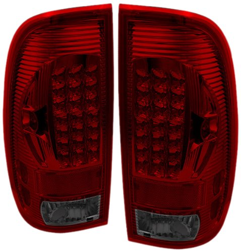 Spyder Auto Alt-On-Ff15097-Led-Rs Ford F150 Styleside/F250/350/450/550 Super Duty Red/Smoke Led Tail Light