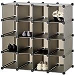 VonHaus 16x Black Interlocking Storag...