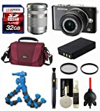 Olympus E-PL3 Digital Camera (Black) + Olympus Lens 14-42mm + Olympus Lens 40-150mm + Spare Battery + Lowepro Bag + 2 Filter Kit + 32GB SDHC Kit
