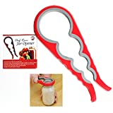Chef Remi Jar Opener - Rated No.1 Kitchen Tool To Remove Stubborn Lids, Caps and Bottles - Designed For Small Hands, Seniors or Anyone Who Suffers From Arthritis - Lifetime Guarantee