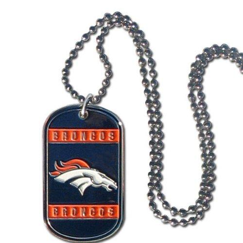 NFL Denver Broncos Dog Tag Necklace (Nfl Sun Shade Denver compare prices)