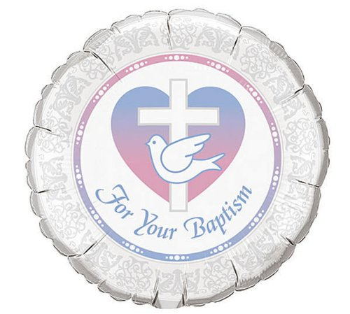 For Your Baptism 18-Inch Foil Mylar Balloon 2 Pack - 1