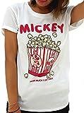(ディズニー) Disney Tシャツ レディース 半袖 ミッキー 2color L オフホワイト