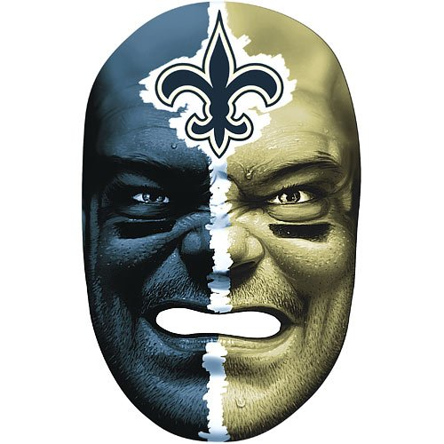 NFL Saints Fan Face