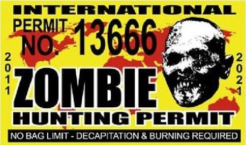 International Zombie Hunting Permit license