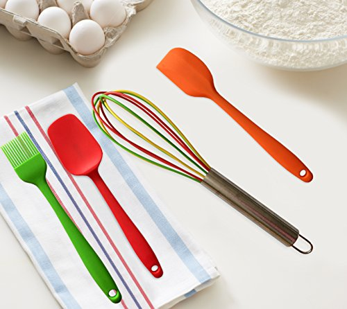 Perfect kitchen utensils for kids divine delights silicone for Colorful kitchen tools