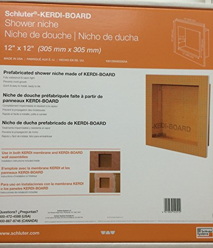"Find Bargain Schluter KERDI-BOARD-SN: Shower Niche 12""x12"""