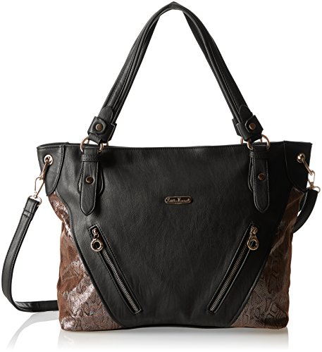 Little Marcel Charly, Borsa a spalla donna , Nero (Black (nero)), Taille Unique