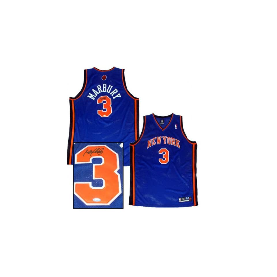 4be35b52596 Stephon Marbury New York Knicks Autographed Away Jersey on PopScreen