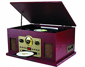 Amazon.com: Sylvania SRCD838 5-In-1 Nostalgic Turntable