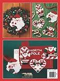 Candy Cane Santas in Plastic Canvas  (Leisure Arts #5163)