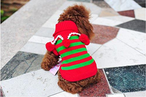 Abbigliamento Yuver (TM) Pet Dog Natale maglione dell'animale domestico vestiti del cane per la festa di natale Teddy vestiti del cucciolo vestiti maglione