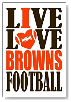 Live Love I Heart Browns Football lined journal - any occasion gift idea for Cleveland Browns fans from WriteDrawDesign.com