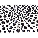 Crystals & Gems UK 325 Gemmes Strass Diamante Auto-adhésives Á Coller Noir Vajazzle Mariage 2,3,4,5 mm