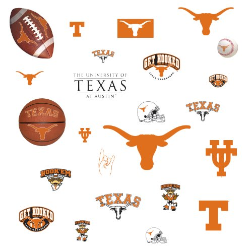 Roommates Rmk1073Scs University Of Texas Peel & Stick Wall Decals front-40779