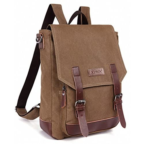 Kenox Vintage High School Canvas Backpack School Bag Travel Bag Laptop Bag