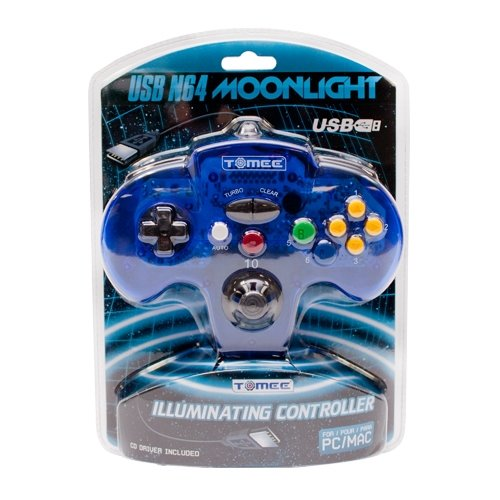 Tomee N64 USB Controller Moonlight Glow Controller for PC/Mac/USB