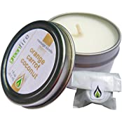 Greenfire Orange Carrot Coconut All Natural Massage Oil Candle Fragranced With Essential Oils (Size: 1 Fluid Ounce)
