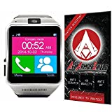 Ace Armor Shield Shatter Resistant Screen Protector for the Veezy Gear Bluetooth Smart Watch / Military Grade / High Definition / Maximum Screen Coverage / Supreme Touch Sensitivity /Dry or Wet Easy Installation with free lifetime replacement warranty