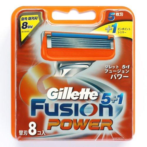 Gillette Fusion Power, 8 lamette di rasoio. 100% Originale razor blades, 8 pack