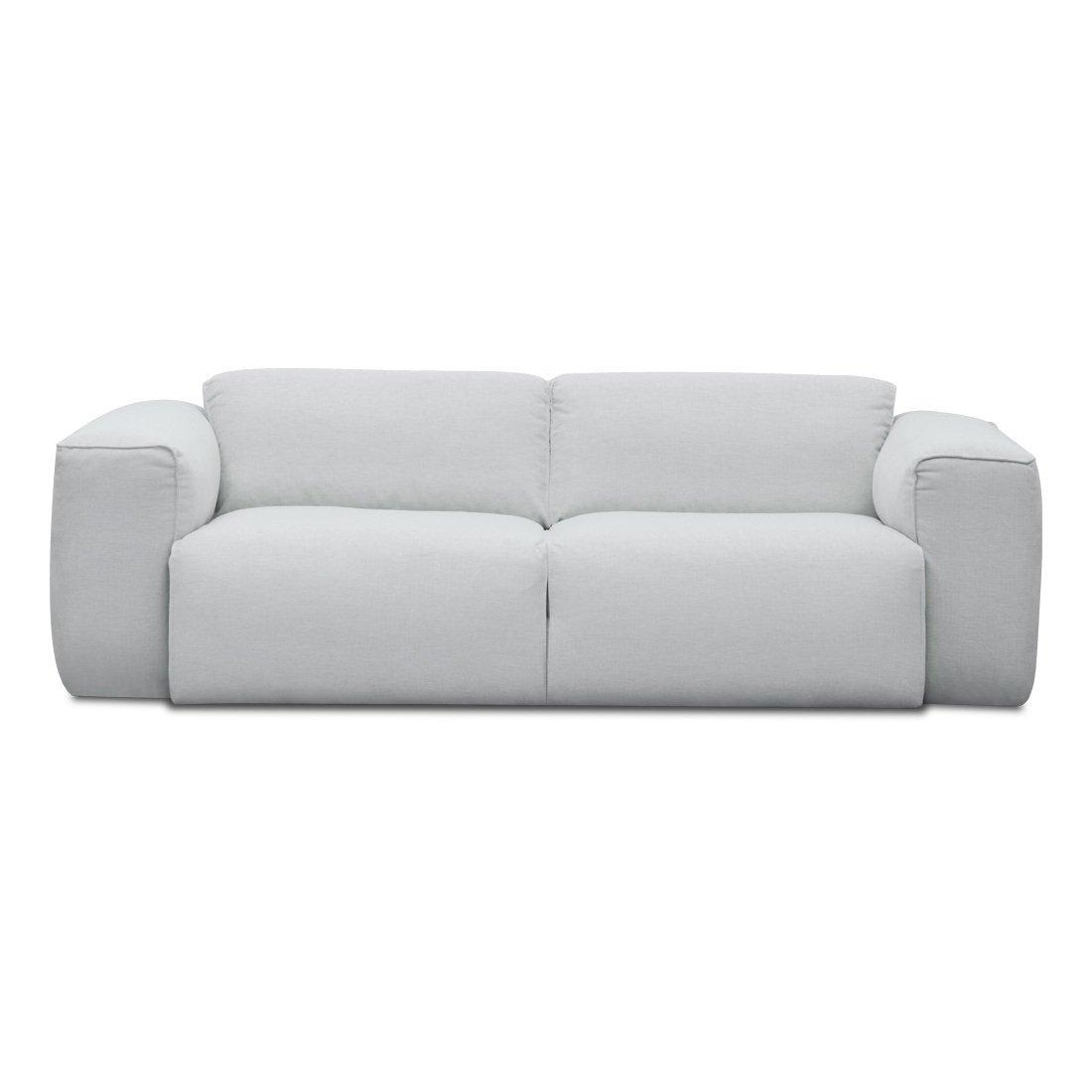 2-Sitzer Sofa Silber Designer Couch Sofa günstig kaufen