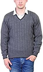 Priknit Men's Blended Sweater (SH-5000-44 D GREY, D Grey, 44)