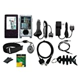 iShoppingdeals - 11 items Premium Accessory Bundle Combo For Microsoft Zune 30GB MP3 (Color: Black)