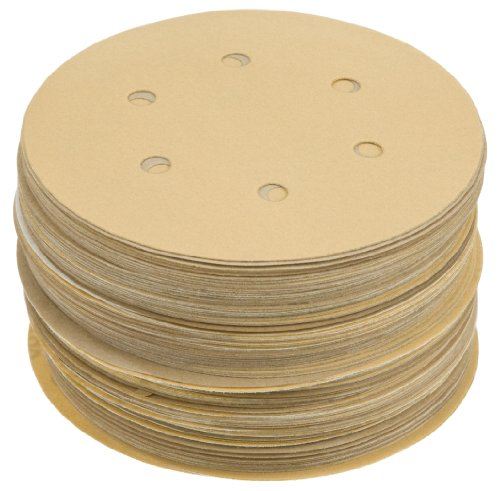 Grizzly H6706 6-Inch Sanding Disc, A600-C Hand Length 6 Hole, 100-Piece grizzly g1870 wood threading 1 inch die