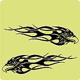 2-Adler-Aufkleber-zur-Dekoration-von-Autos-Motorrdern-Fahrrdern-und-allen-anderen-Fahrzeugen-aus-14-Farben-whlbar-Schwarz