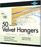 Closet Complete Ultra Thin No Slip Velvet Suit Hangers, Ivory Set of 50