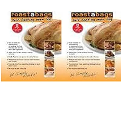 Original Self Basting Oven Bags for all meats and vegeatables 10x15 inches 2 packs 8 bags in each